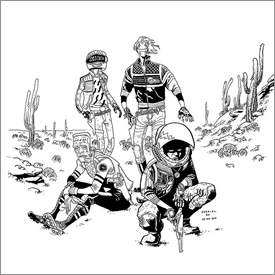 Killjoys pinup - ink