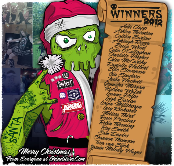 Skully holding roll call of winners